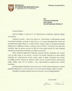 Marszałek Województwa Mazowieckiego o Konferencji Logistyka Odzysku