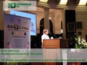 I Konferencja Logistyki Odzysku Adamczyk